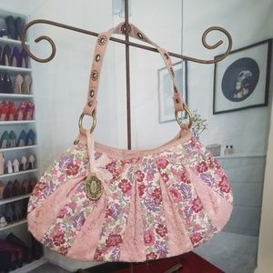 Kenzie handbag with lace trim
